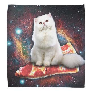 Space cat pizza bandanas