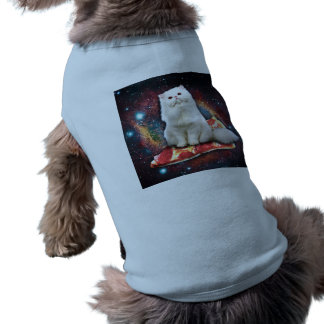 Space cat pizza shirt