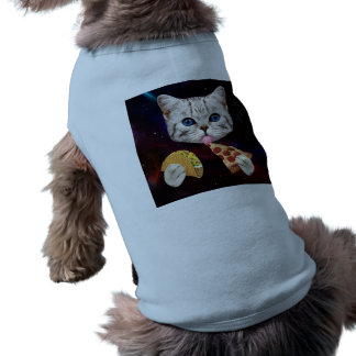 Space Cat with taco and pizza Shirt
