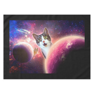 """Space Cats"" LOL Cotton Tablecloth, 52""x70"""
