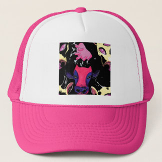 space cow trucker hat