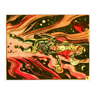Space Detective in Space Postcard