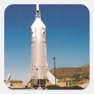 Space Exploration Rocket Square Sticker