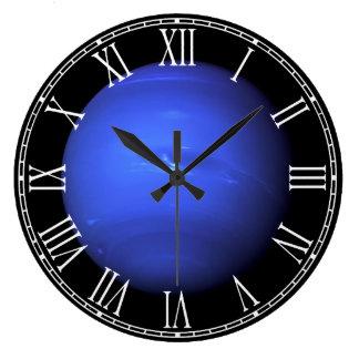 Space Full Color Photo of the Planet Uranus Large Clock