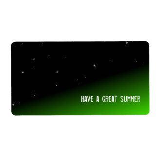 Space Green Candy Bar Wrapper With Message Shipping Label