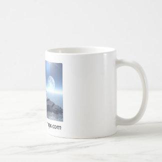 Space Island, madhatterstamps.com Basic White Mug
