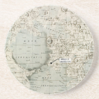 SPACE: MOON MAP, 1972 COASTERS