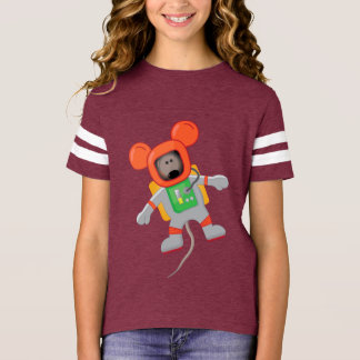 Space Mouse American T girls T-Shirt