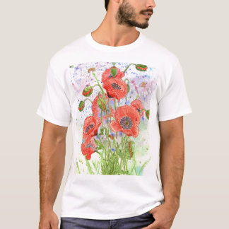 'Space Poppies' T-Shirt