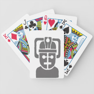 Space Robot Bicycle Playing Cards