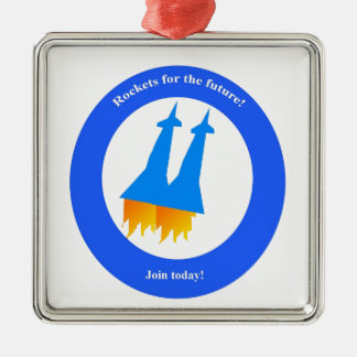 Space Rockets Christmas Ornament