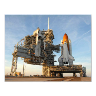 Space Shuttle Atlantis (STS-122) - launch pad 4.25x5.5 Paper Invitation Card