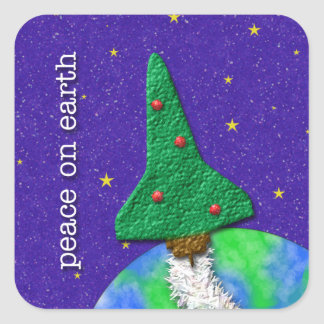 Space Shuttle Christmas Tree Sticker