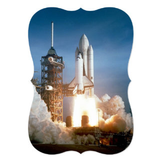 Space Shuttle Columbia launching 13 Cm X 18 Cm Invitation Card
