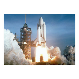 Space Shuttle Columbia Launching Custom Announcements