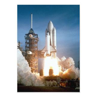 Space Shuttle Columbia launching 13 Cm X 18 Cm Invitation Card