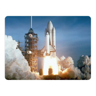 Space Shuttle Columbia Launching 17 Cm X 22 Cm Invitation Card