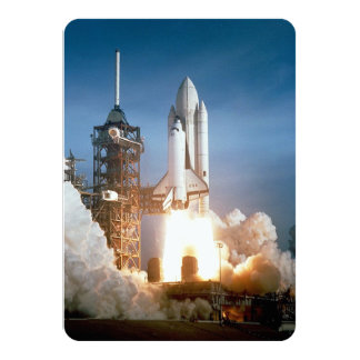 Space Shuttle Columbia Launching 4.5x6.25 Paper Invitation Card