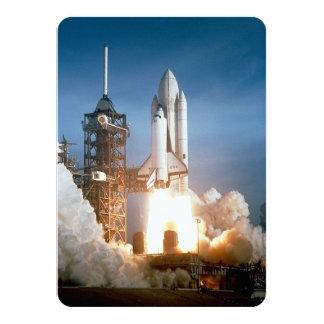 "Space Shuttle Columbia Launching 4.5"" X 6.25"" Invitation Card"