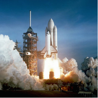 Space Shuttle Columbia launching Standing Photo Sculpture