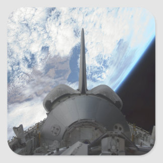 Space Shuttle Endeavour's payload bay 3 Square Sticker