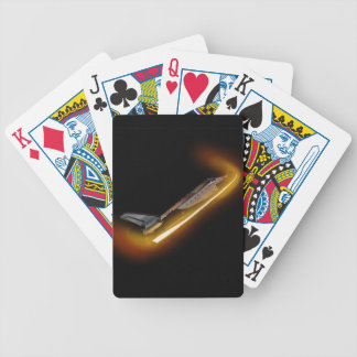 space shuttle re-entry bicycle playing cards