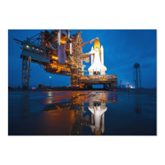 Space Shuttle Ready For Launch 13 Cm X 18 Cm Invitation Card