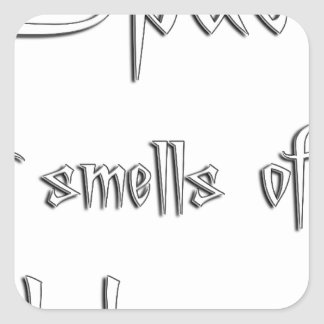 Space Smells Square Sticker