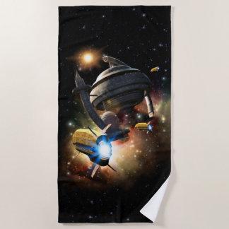 Space Station Fantasy Beach Towel