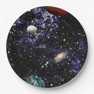 SPACE THE FINAL FRONTIER (composition 1) ~.jpg 9 Inch Paper Plate