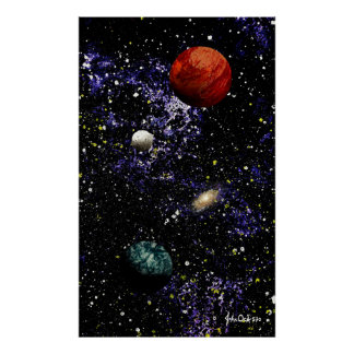 SPACE: THE FINAL FRONTIER (composition 1) large ~ Poster