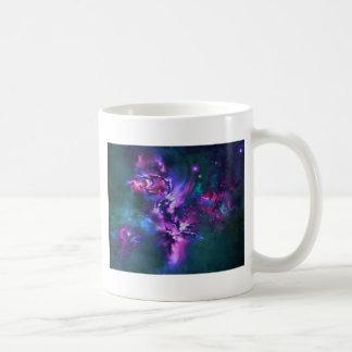 space themed basic white mug