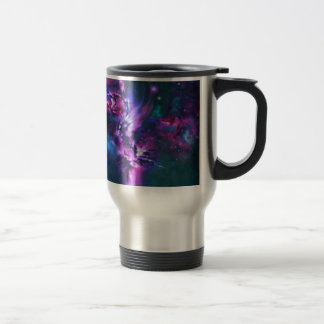space themed stainless steel travel mug
