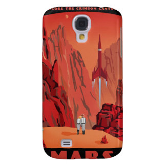 Space travel poster to the mars galaxy s4 case