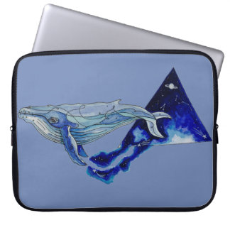 space whale laptop sleeve