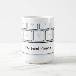 Spacebar, the final frontier basic white mug