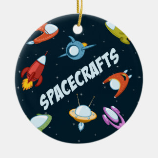 Spacecraft and rockets christmas ornament