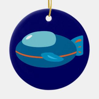 Spaceship Christmas Ornament