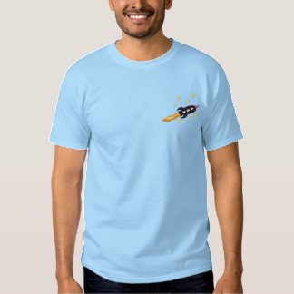 Spaceship Embroidered T-Shirt