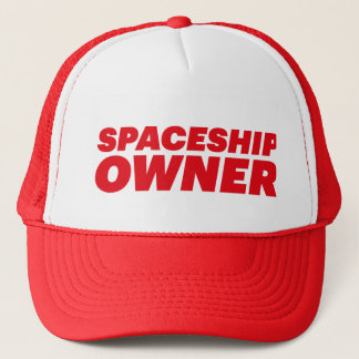 SPACESHIP OWNER fun slogan hat