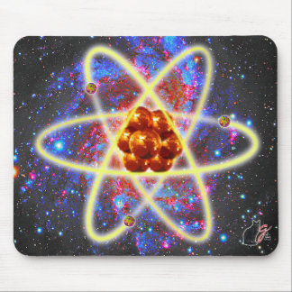 Spacey Atomic Mouse Pad