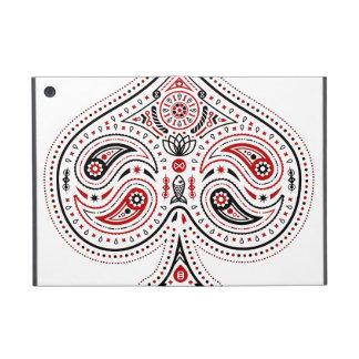 Spades - iPad Mini Folio Case (White/Red/Black) iPad Mini Covers