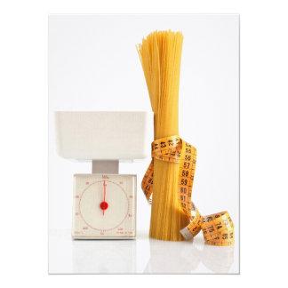 spaghetti and scale 14 cm x 19 cm invitation card
