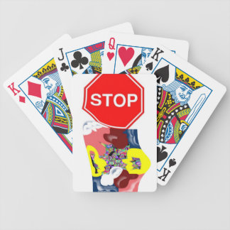 Spaghetti Stop Sign Bicycle Playing Cards