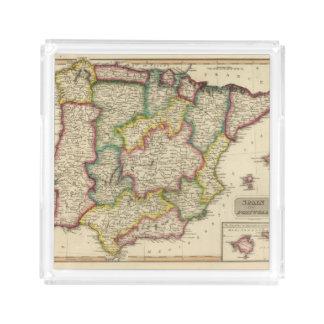Spain and Portugal 19 Acrylic Tray