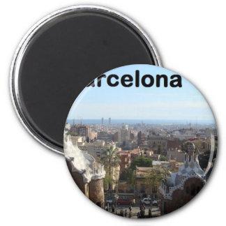 Spain Barcelona View (St.K) 6 Cm Round Magnet