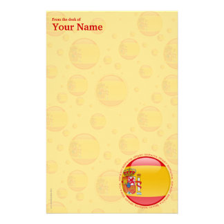 Spain Bubble Flag Stationery