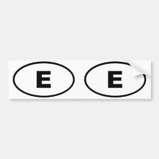Spain Espana (E) European oval Bumper Sticker