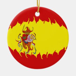 Spain Gnarly Flag Christmas Tree Ornament