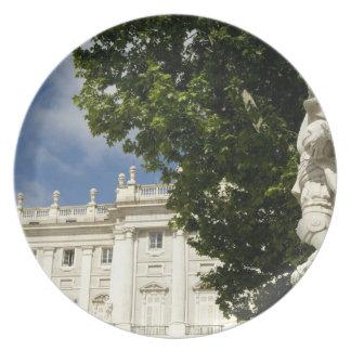 Spain, Madrid. Royal Palace. Plates